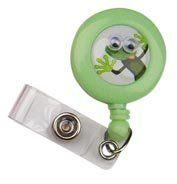 Pop Eyes Retractable Badge Holder Lizzie LeFrog Scrub Stuff $3.60