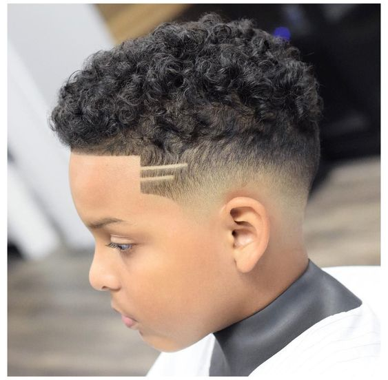 Curly Hair Fade for Boys