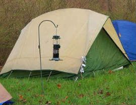shepherd hooks and lanterns - a must glamping have