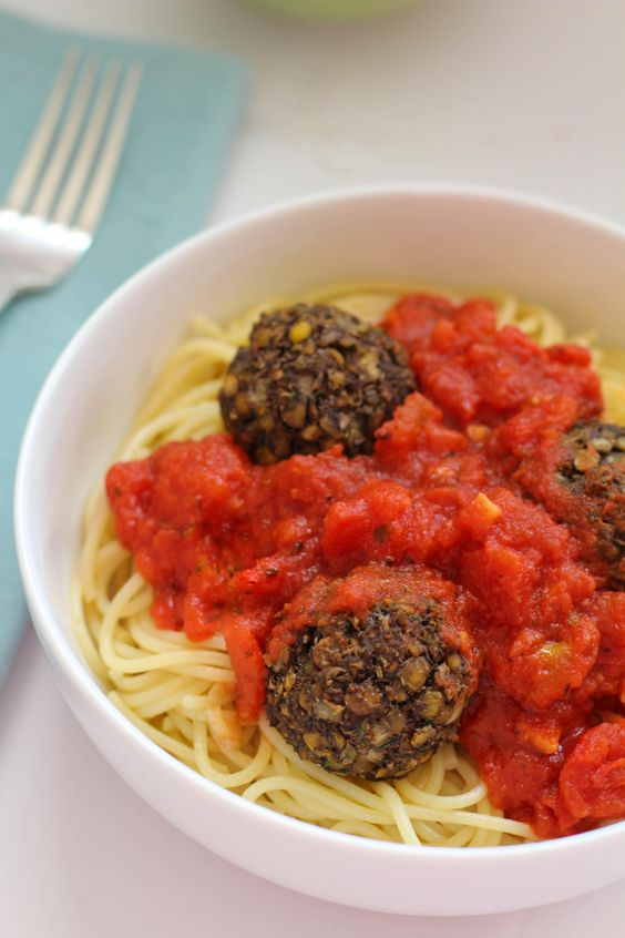 With spring teasing us and winter seeming endless in Montreal, I've been craving comfort foods and pasta seems to be on the top of that list.  One of my son's favourite meals is spaghetti, so I thought it would be an interesting challenge to add meatballs to our spaghetti, minus the meat and in a …