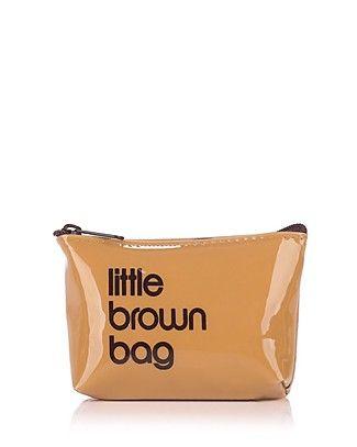 Bloomingdale's Little Brown Key Pouch