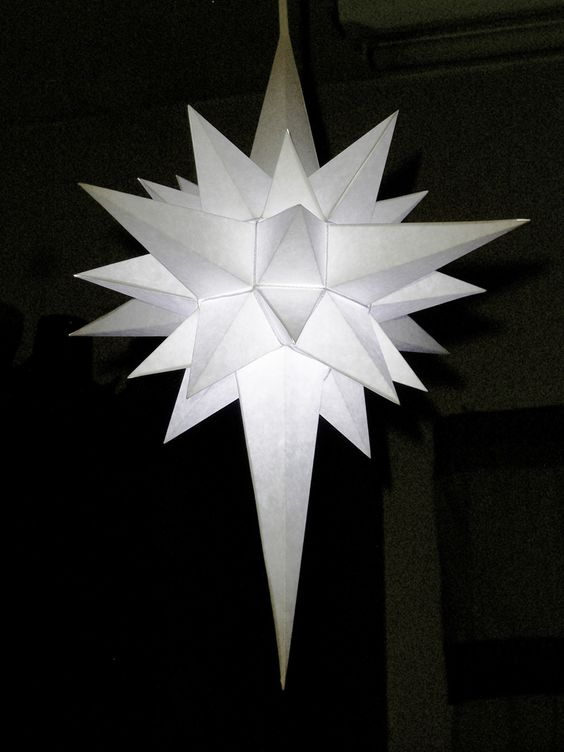 Christmas Decorations Star Of Bethlehem : How to make a paper star of bethlehem this one can be