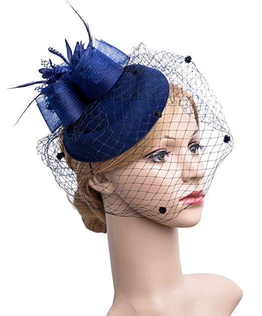 Fascinators Hair Clip Headband Pillbox Hat Bowler Feather Veil Wedding Party New