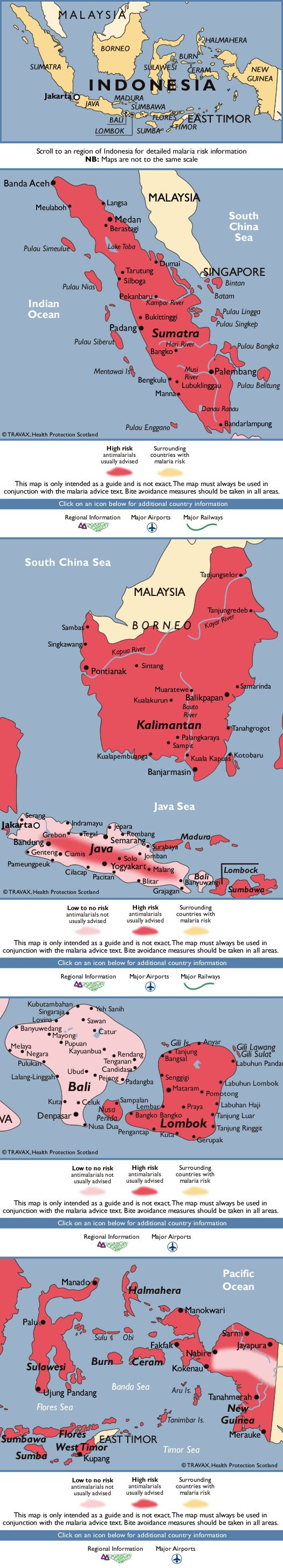 Indonesia Malaria Map   Travel Health and Safety   Pinterest   Asia, Destinations and Maps