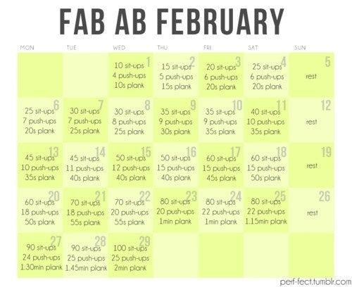 30 day ab challenge. Doing this too. I think I will get through this much easier than the squat challenge!
