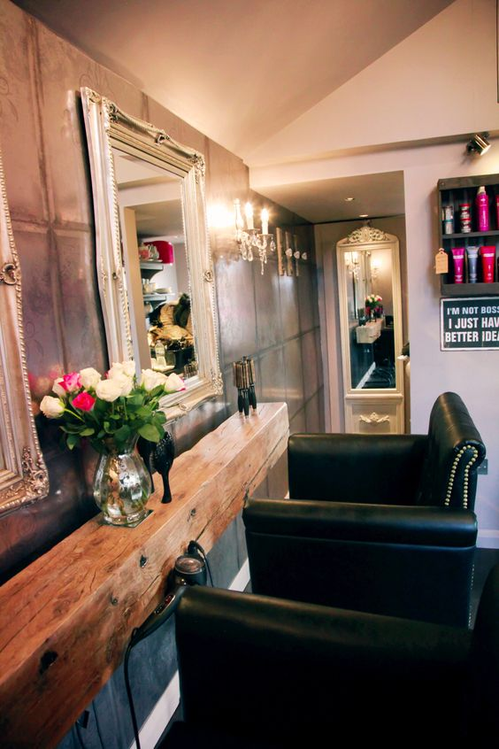 """""""The shed"""" Hair salon designed by detail design studio rustic chic"""