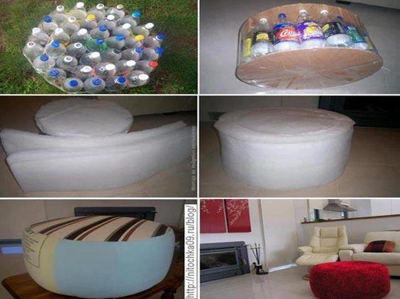 Plástico, cartón, vidrio, metal, tubos de pvc, muebles maltrechos