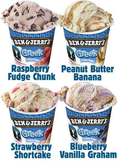 OMG ben and jerry's frozen greek yogurt: Greek Frozen, Peanut Butter Banana, Frozen Yogurt, Jerry S Greek, Greek Froyo, Ben And Jerrys Ice Cream, Ben Jerry S, Benandjerrys Frozenyogurt