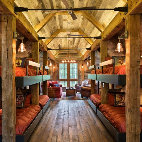 Log cabin ceiling fans design ideas pictures remodel and for Cabin renovation ideas