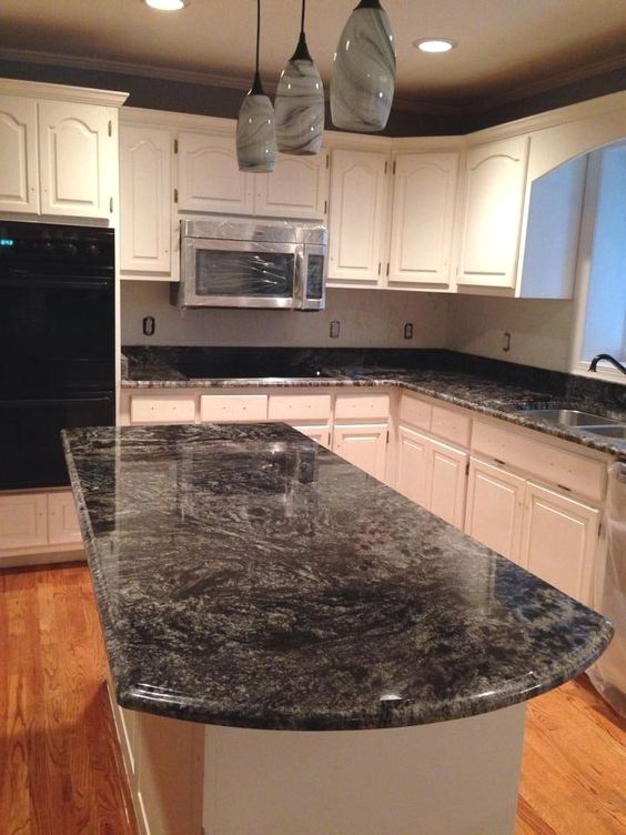 Top 13 Materials For Kitchen Countertops With Pros And Cons The Most Popular K Granite Countertops Kitchen Black Kitchen Countertops Dark Granite Countertops