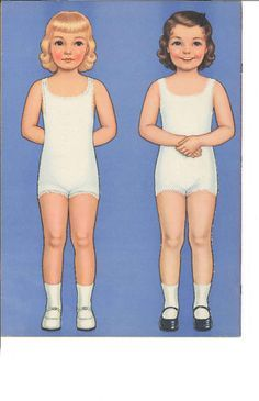 Front and Back Paper Dolls