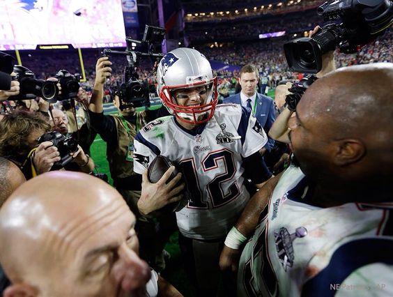 Tom Brady and Vince Wilfork