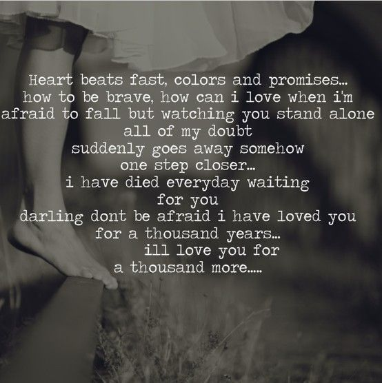 A Lyric Pic Of 'A Thousand Years' By Christina Perri