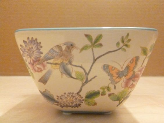 Vintage Small Bowl Butterfly Design Candle holder by getgiftideas