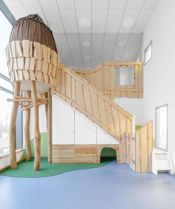 klettern und toben in den baumkronen / interior / kita, Schlafzimmer design