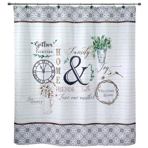 Avanti Modern Farmhouse Shower Curtain Farmhouse Shower Curtain