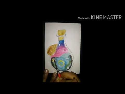 How To Paint A Potion Bottle With The Whole Space In It Youtube Potion Bottle Potions Wholeness
