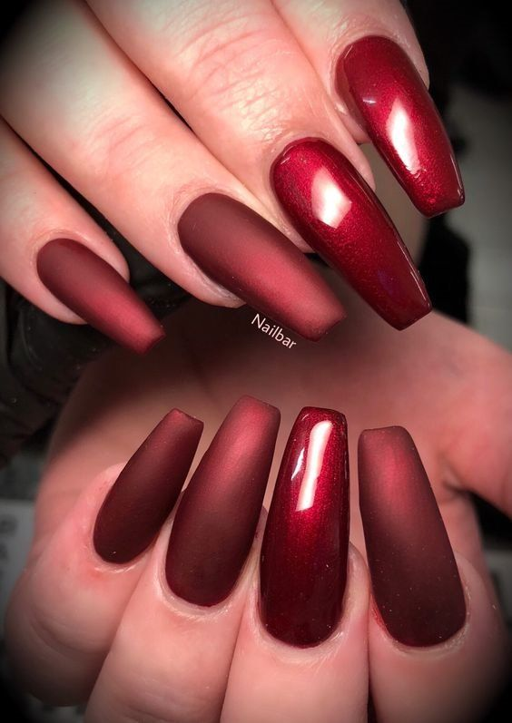 Charming Wine Red Nail Art Designs 2019 Red Nails Red Nail Art Red Nail Art Designs