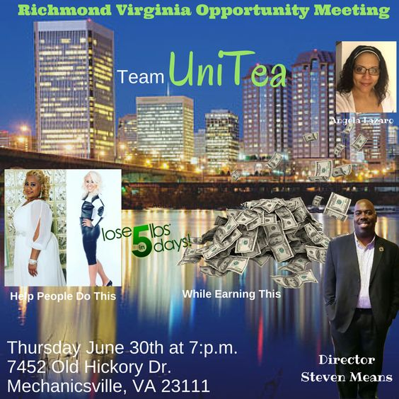 Richmond VA: come on out and hear about this awesome opportunity and phenomenal products! June 30 at 7 PM.