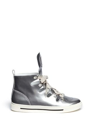 MARC BY MARC JACOBS - Metallic cut-out leather sneakers | Metallic Sneakers Flats | Womenswear | Lane Crawford