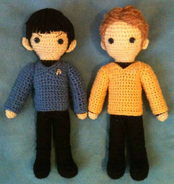 Star Trek amigurumi - Spock and Kirk