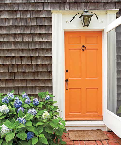 Home Decorating Tips For The Diyer In You In 2020 Painted Front Doors Front Door Paint Colors Orange Front Doors