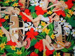 Aloha Girls - Black | Sew L.A. Fabric