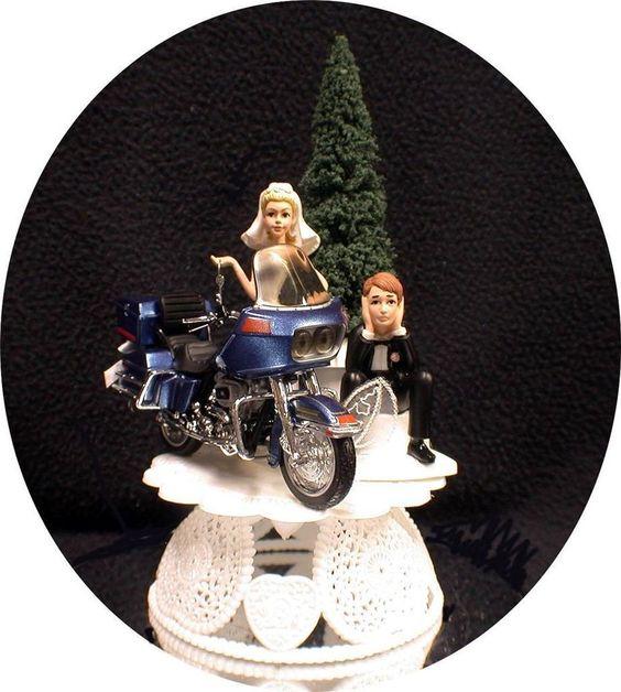 Wedding Cake Topper W Diecast Glide Harley Davidson