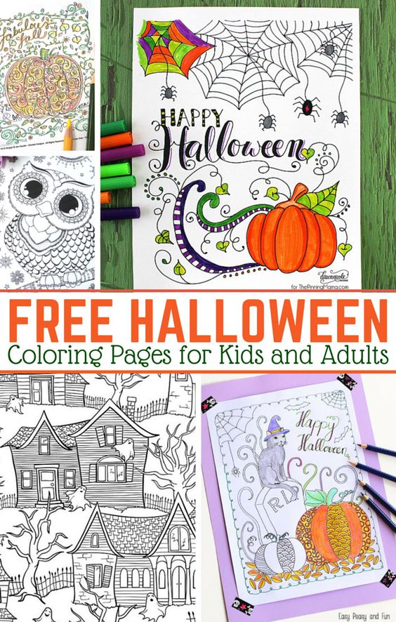 Halloween Coloring Pages for Adults - Easy Peasy and Fun