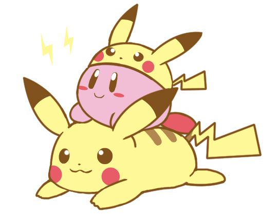 Kirby and pikachu