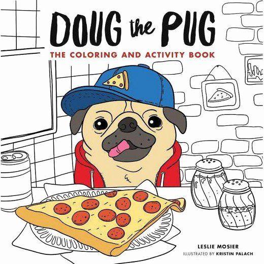Doug The Pug Coloring Book Awesome Doug The Pug The Coloring Book Reprint Paperback Mesir Gurita