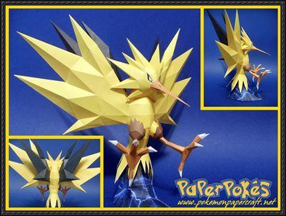 Pokemon - Zapdos Ver.3 Free Papercraft Download