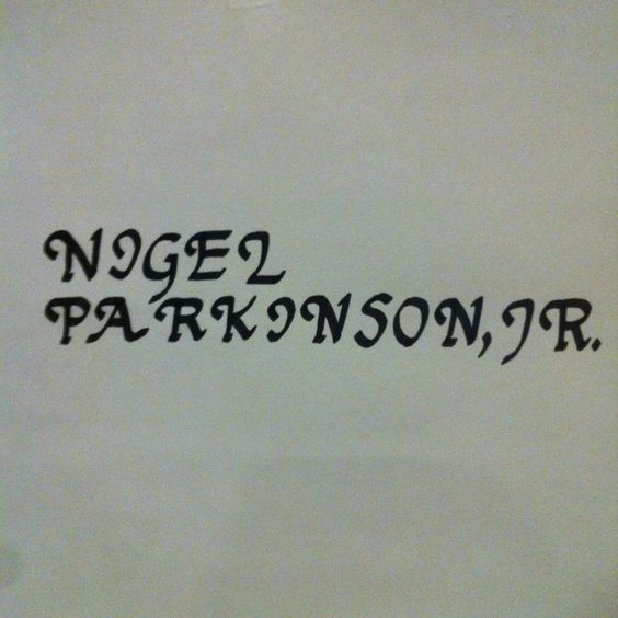 Your Name Written by Calligrapher Nigel Parkinson, Jr. from Handwriting with Elegance for $5.00 on Square Market