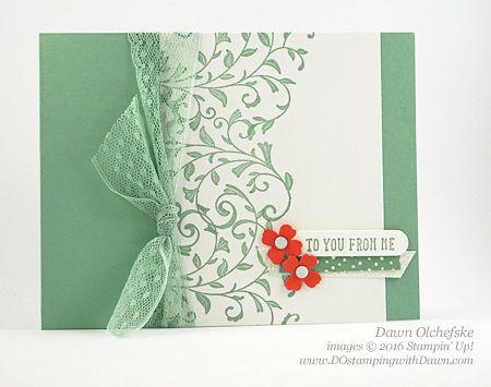 tarjeta de la primera vista creada por Dawn Olchefske para #stampinup Control Freak Blog Información #dostamping