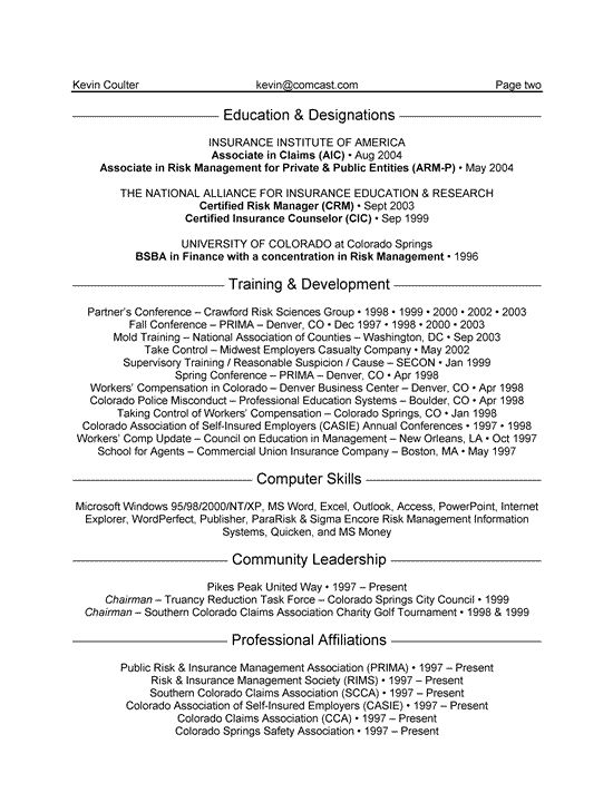 Resume Examples Insurance Resume Examples Job Resume Samples