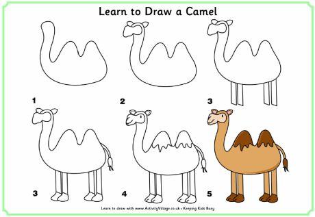 Learn to draw a camel dessiner tout seul pinterest - Dessiner un chameau ...