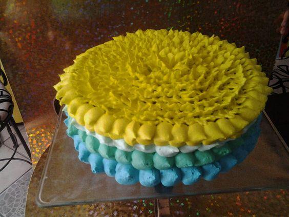 Pastel muy colorido