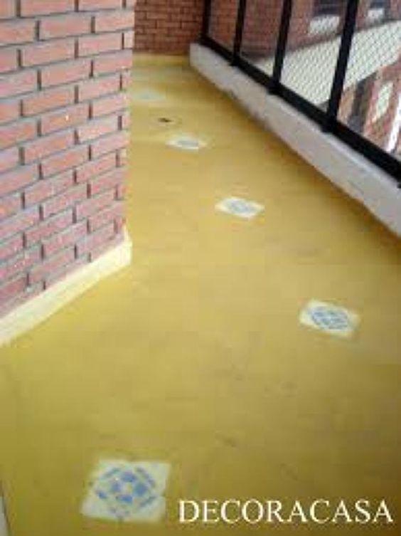 piso cimento queimado corredor