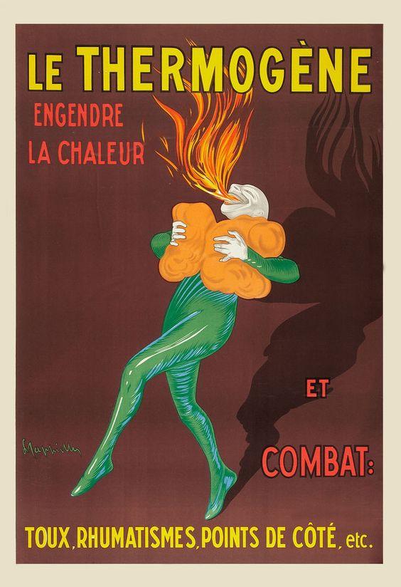 Art Deco: French Advertising * Le Thermogene  * Poster Circa 1949 #ArtDeco