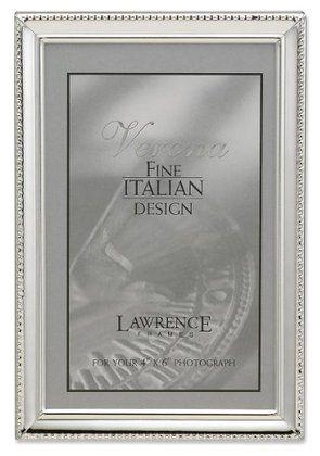 Lawrence Frames Polished Picture Frame, Bead Border Design