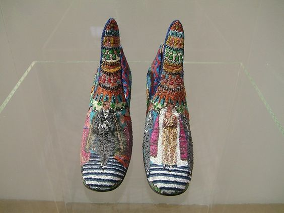 Poiret designed beaded pumps by Perugia