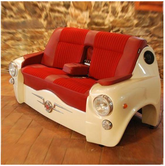 fauteuil fait partir d 39 une calandre de voiture meuble de r cup 39 d tournements upcycled. Black Bedroom Furniture Sets. Home Design Ideas