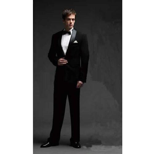 Black Slim Fit Italian Wedding Prom Dress Dinner Suit Tuxedo Men