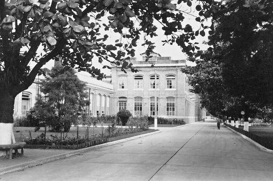 Vista parcial da Fabrica de tecidos  Bangu em 1958