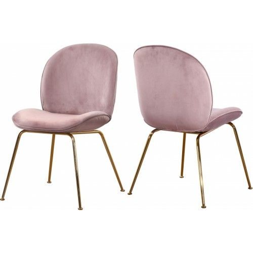 Groovy Blush Pink Velvet Mid Century Accent Dining Chair Gold Legs Dailytribune Chair Design For Home Dailytribuneorg