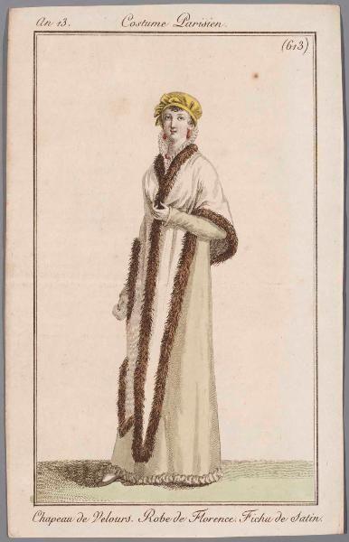 Pelerine, an 13 Costume parisien