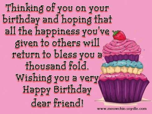 birthday-wishes-for-a-friend-cupcake #compartirvideos.es #happybirthday