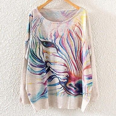 Cute loose batwing zebra print pullover less than $20. Click on  the picture to get it.