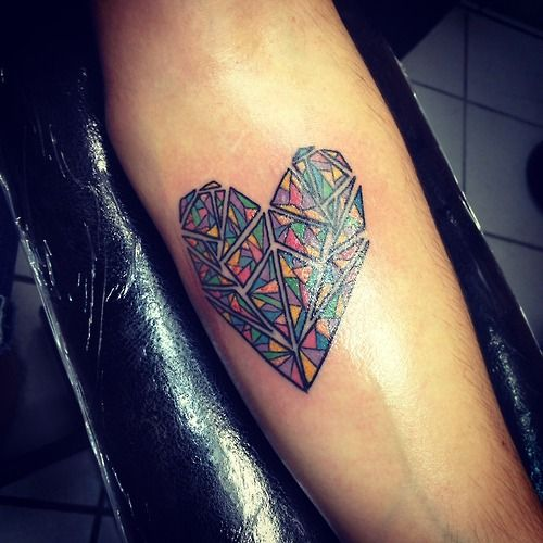 A kaleidoscope heart. Done by Romeo Lacoste