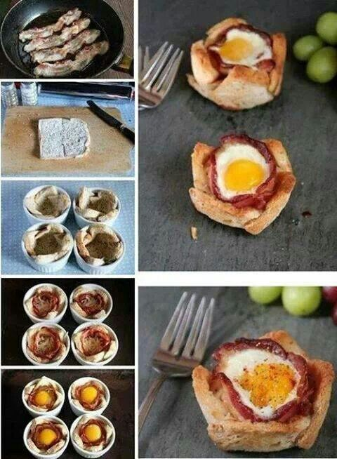 Pane uovo pancetta